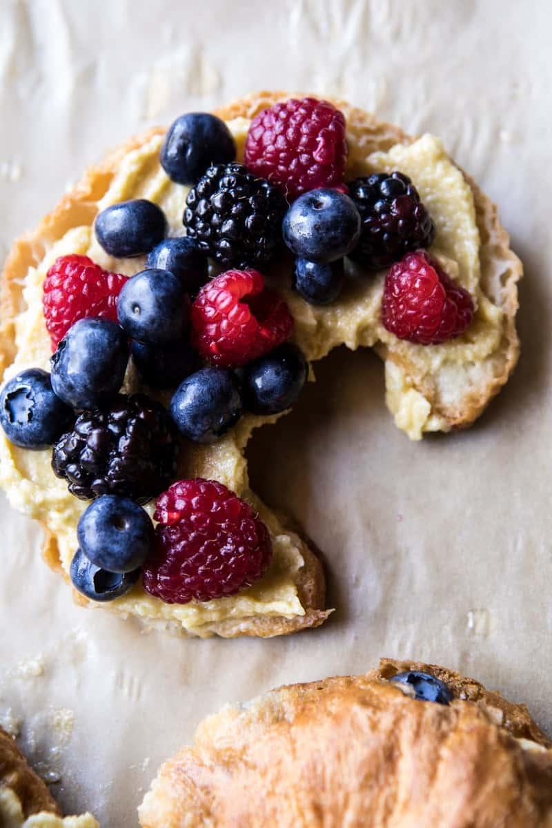 Mixed Berry Almond Croissants | halfbakedharvest.com @hbharvest