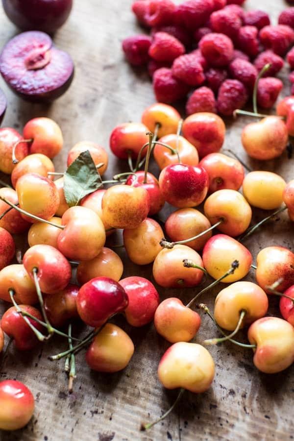 Raspberry Ginger Stone Fruit Galette | halfbakedharvest.com @hbharvest