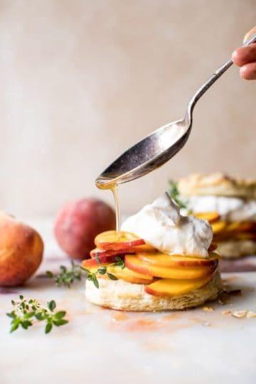 Sweet Peach Thyme Shortcakes.