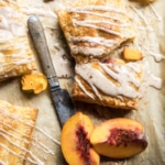 Brown Sugar Peach Puff Pastry Pop Tarts.