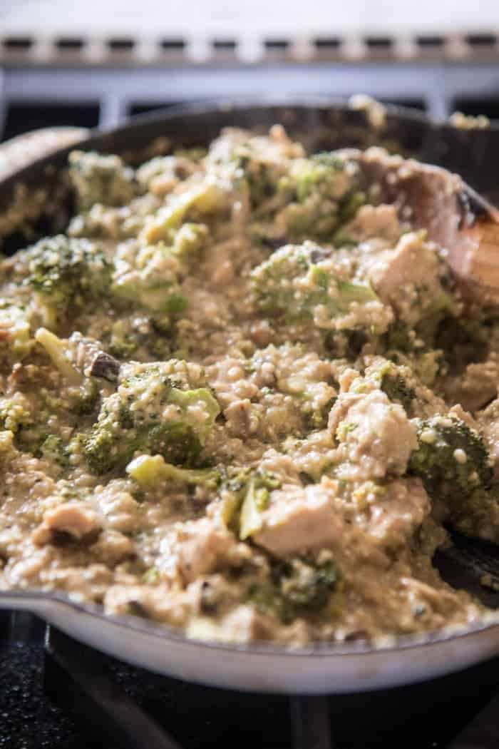 Chicken Broccoli Cheddar Quinoa Casserole | halfbakedharvest.com @hbharvest