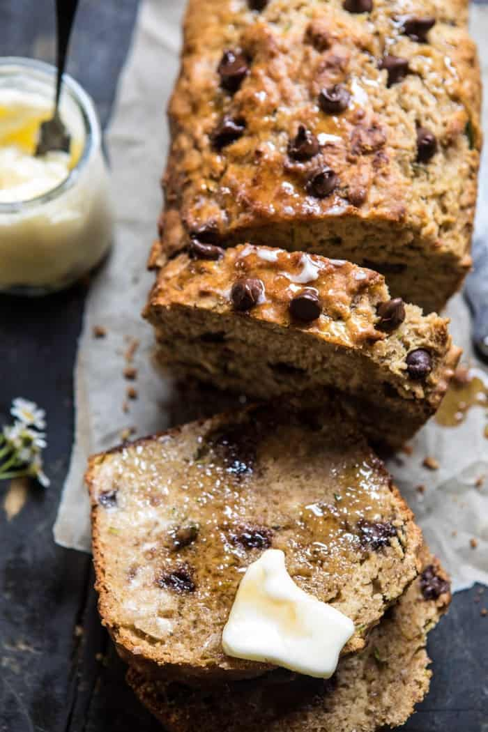 Chocolate Chip Olive Oil Zucchini Banana Bread. - Half Baked Harvest