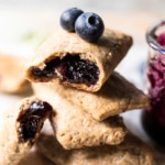 Homemade Blueberry Nutri Grain Bars.