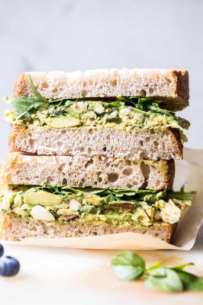 Mediterranean Avocado Chicken Salad | halfbakedharvest.com @hbharvest