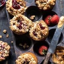 PB&J Oat Streusel Muffins.