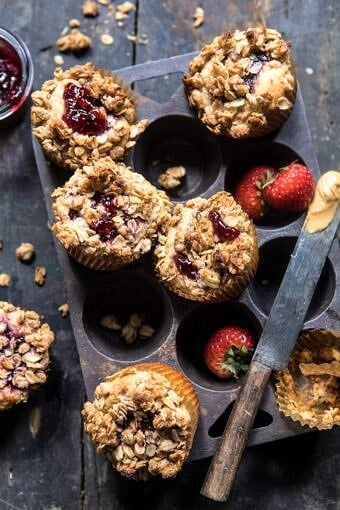 PB and J Oat Streusel Muffins | halfbakedharvest.com @hbharvest