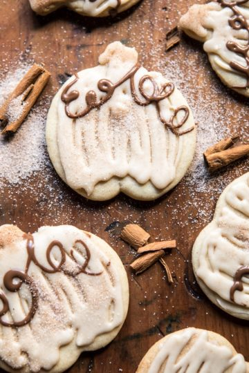 Cinnamon Spiced Sugar Cookies with Browned Butter Frosting + Video.