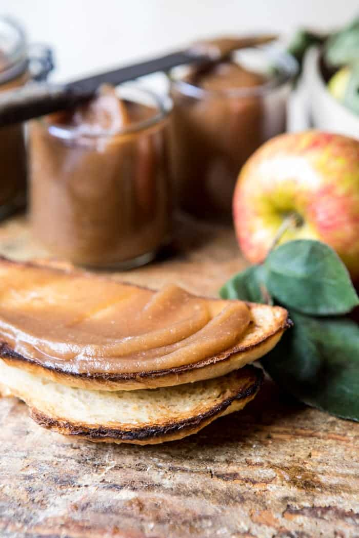 Homemade Slow Cooker Maple Apple Butter | halfbakedharvest.com @hbhharvest