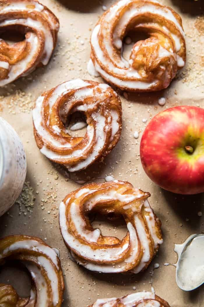 Mulled Apple Cider Chai French Crullers.