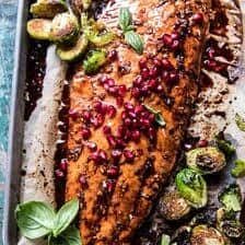 Pan Roasted Pomegranate Glazed Salmon.