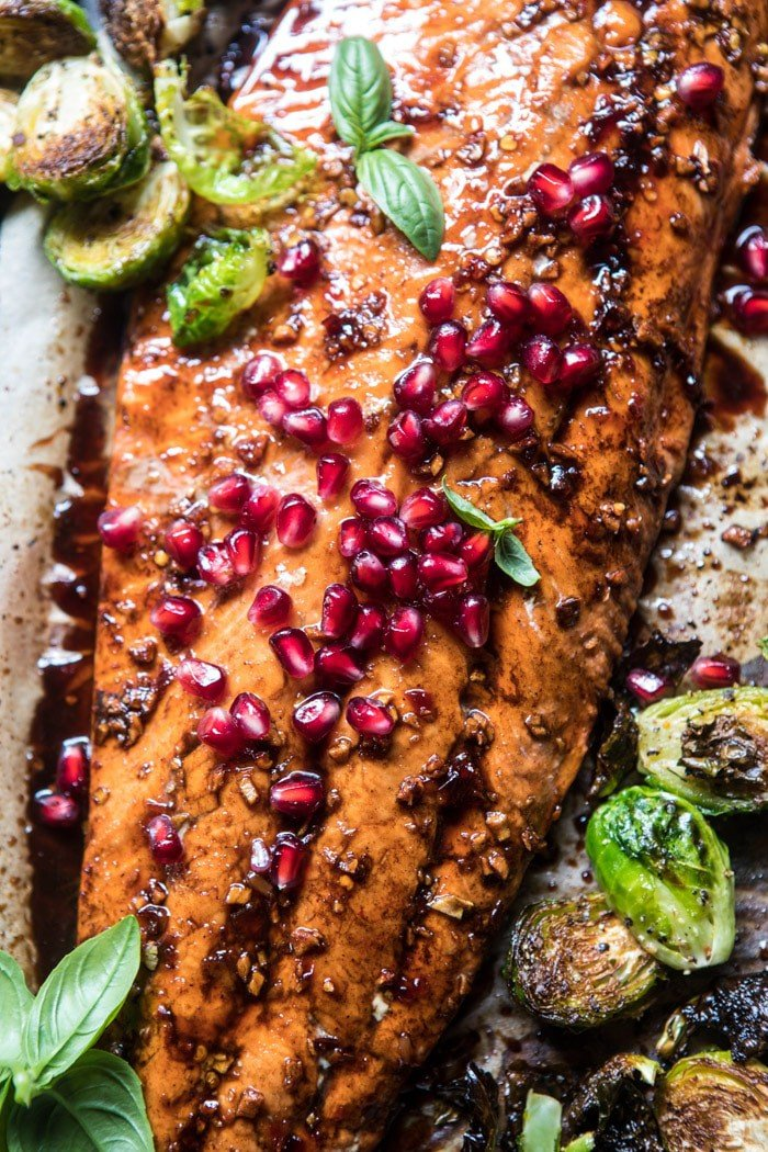 Pan Roasted Pomegranate Glazed Salmon | halfbakedharvest.com @hbharvest
