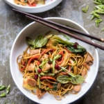 Sweet and Sticky Vegetable Stir Fry.