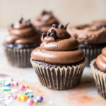 The Best Chocolate Birthday Cupcakes with Fudgy Chocolate Buttercream.
