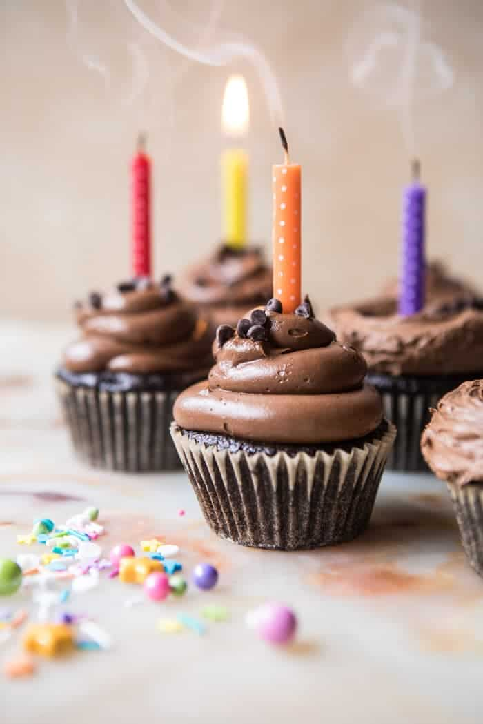 The Best Chocolate Birthday Cupcakeswith Fudgy Buttercream
