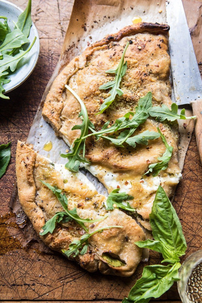 Whole Wheat Spinach and Burrata Calzone | halfbakedharvest.com @hbharvest