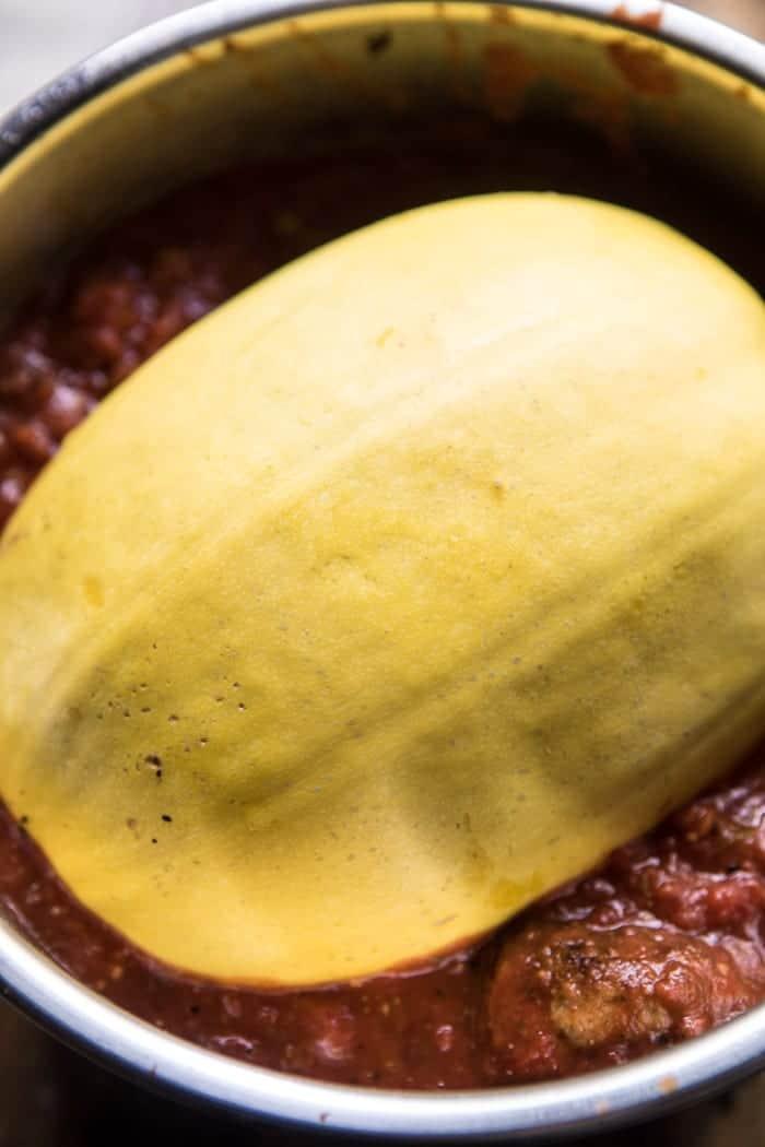 Instant Pot Turkey Meatballs and Spaghetti Squash | halfbakedharvest.com @hbharvest