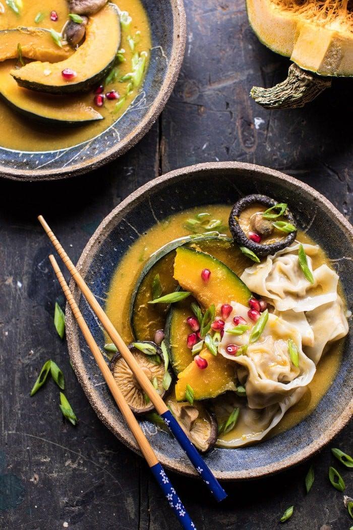 Miso Dumpling Soup with Autumn Squash | halfbakedharvest.com @hbharvest
