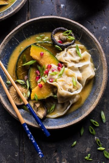 Miso Dumpling Soup with Autumn Squash.