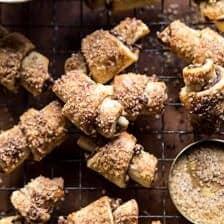 Pumpkin Butter Rugelach Cookies.