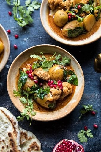 Slow Cooker Potato and Cauliflower Curry | halfbakedharvest.com @hbharvest