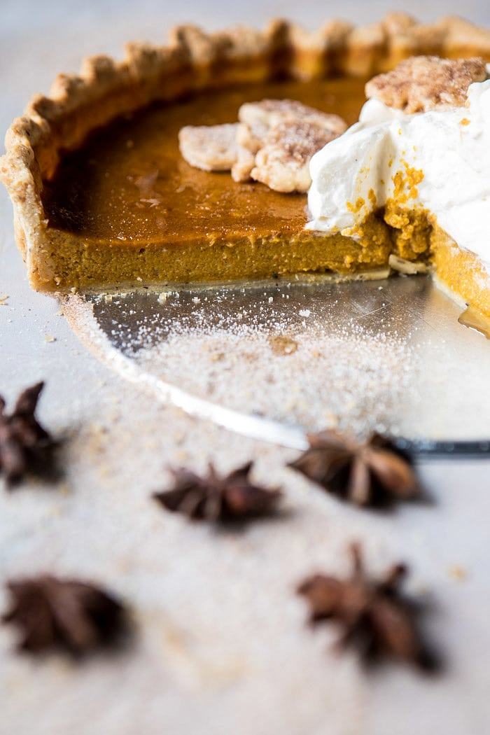 Chai Pumpkin Pie with Maple Whipped Cream | halfbakedharvest.com @hbharvest