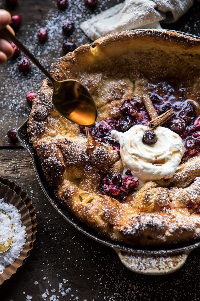 Cinnamon Spiced Dutch Baby with Cranberry Butter | halfbakedharvest.com @hbharvest