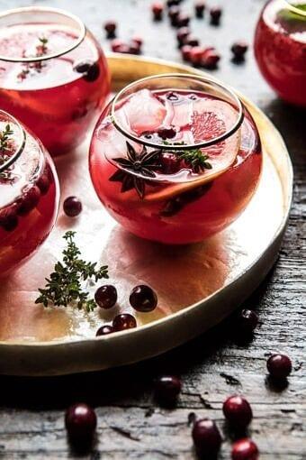 Cranberry Thyme Spritz | halfbakedharvest.com @hbharvest