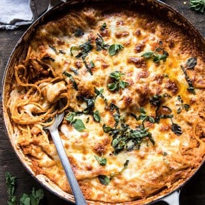 One-Pan Cheesy Spaghetti Pie.