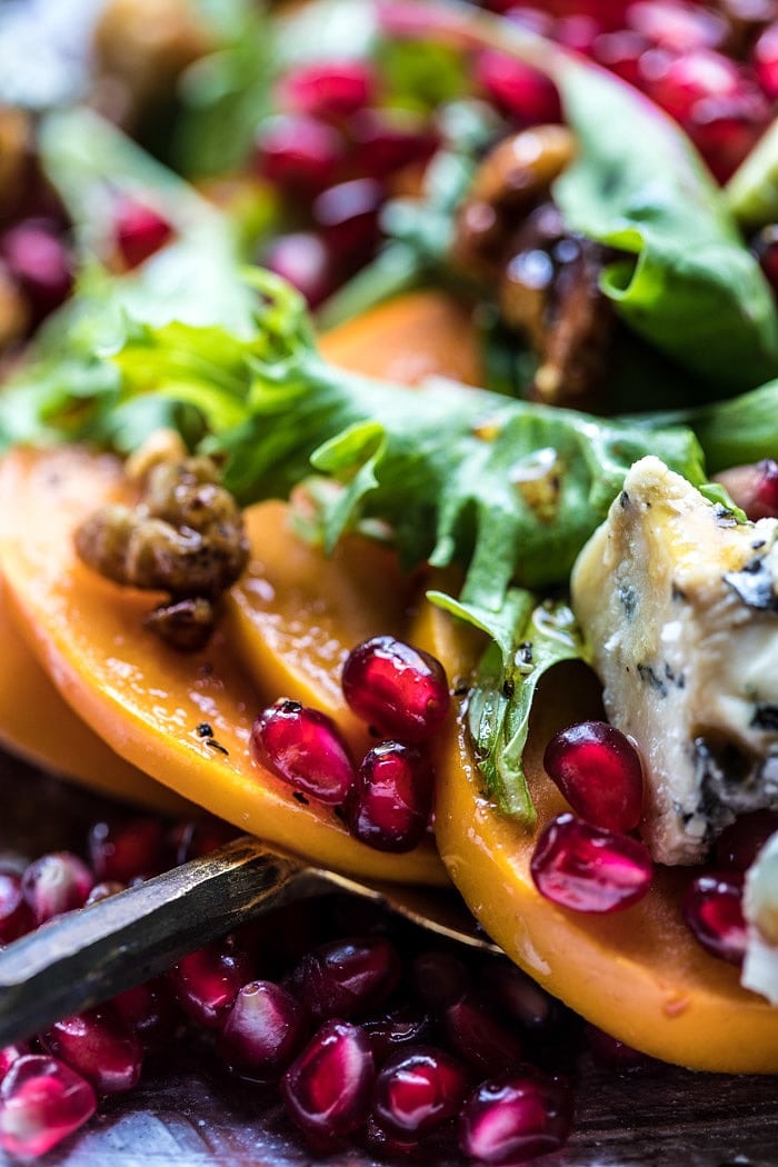 Pomegranate Avocado Salad with Candied Walnuts | halfbakedharvest.com @hbharvest