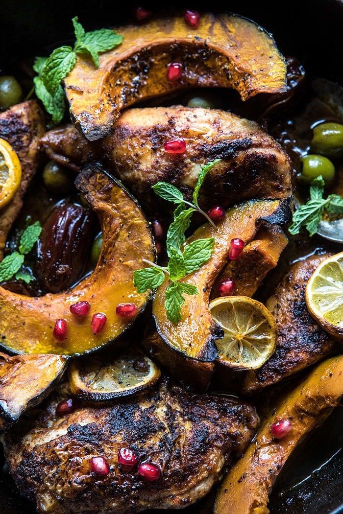 Skillet Roasted Moroccan Chicken and Olive Tagine | halfbakedharvest.com @hbharvest