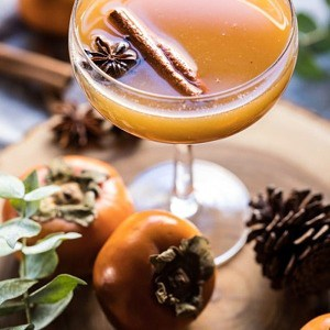 Spiced Persimmon Bourbon Old Fashioned.