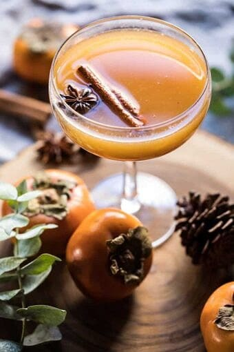 Spiced Persimmon Bourbon Old Fashioned   halfbakedharvest.com @hbharvest