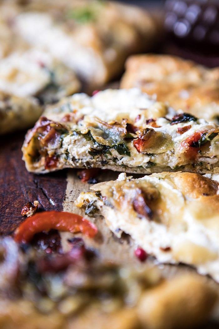 Spinach and Prosciutto Burrata Calzone | halfbakedharvest.com @hbharvest