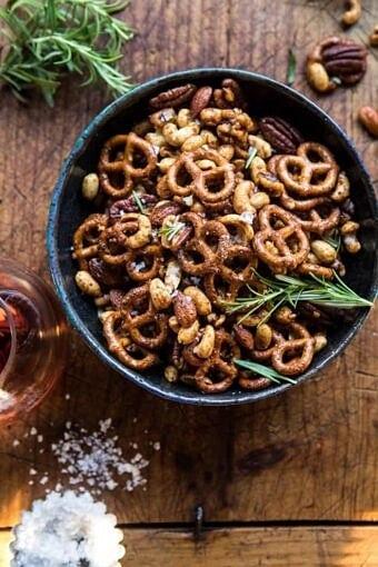 Sweet 'n' Savory Roasted Nuts and Pretzels | halfbakedharvest.com @hbharvest