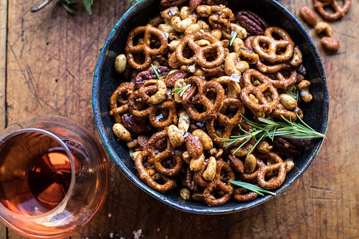 Sweet 'n' Savory Roasted Nuts and Pretzels | halfbakedharvest.com @hbharvest