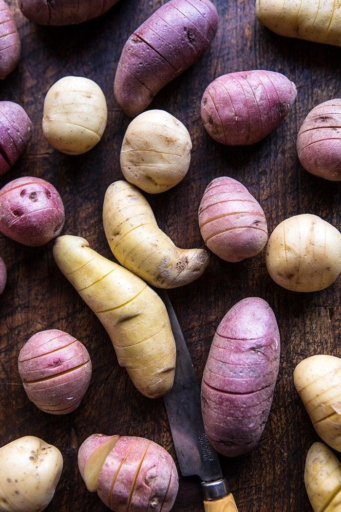 Cheesy Hasselback Potato Au Gratin | halfbakedharvest.com @hbharvest
