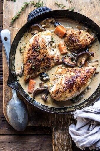Easy Chicken Coq au Riesling | halfbakedharvest.com @hbharvest