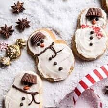 Eggnog Frosted Chai Snickerdoodle Snowmen.