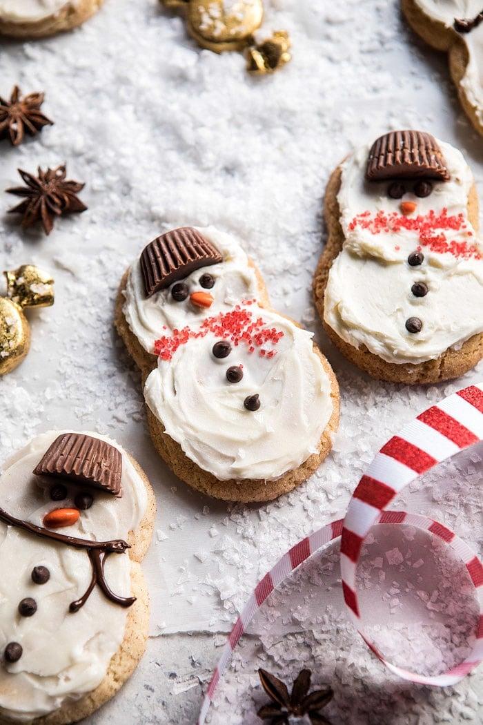 Eggnog Frosted Chai Snickerdoodle Snowmen | halfbakedharvest.com @hbharvest