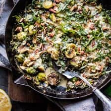 Lemony Fried Brussels Sprouts.