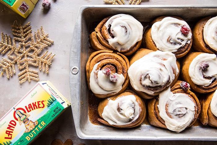 Overnight Gingerbread Cinnamon Rolls | halfbakedharvest.com @hbharvest