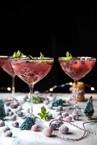 Rudolph's Rockin' Pomegranate Jingle Juice Punch | halfbakedharvest.com @hbharvest