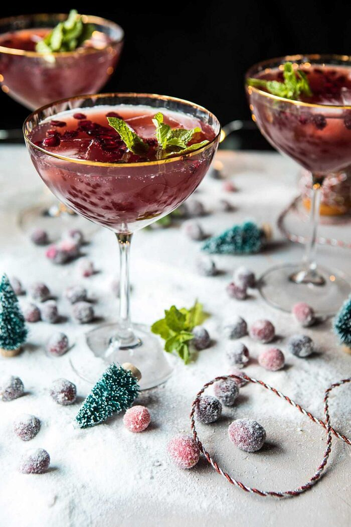 Rudolph's Rockin' Pomegranate Jingle Juice Punch | halfbakedharvest.com @hbharvest