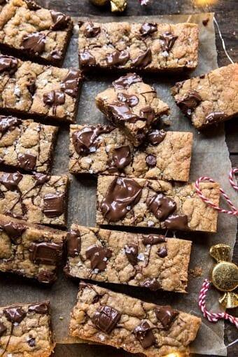 Salted Milk Chocolate and Peanut Butter Blondies | halfbakedharvest.com @hbharvest
