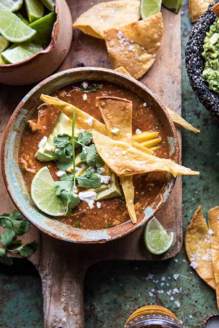 Slow Cooker Chipotle Chicken Tamale Chili Half Baked Harvest