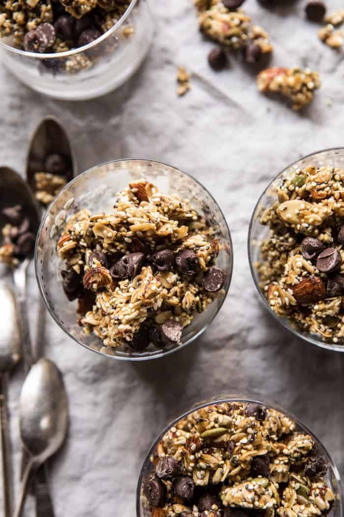Chewy Chocolate Chip Cookie Granola | halfbakedharvest.com #cookie #granola #breakfast #recipes