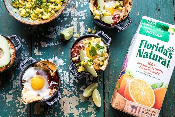 Chipotle Huevos Rancheros Bake with Mango Salsa | halfbakedharvest.com @hbharvest #mexican #brunch #eggs #healthyeating #recipes