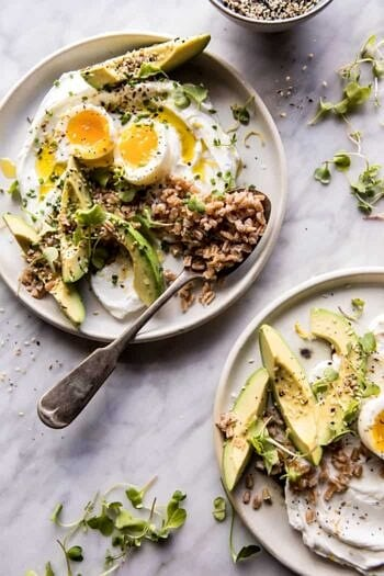 The Best Everything Spice Egg Avocado Yogurt Bowl.