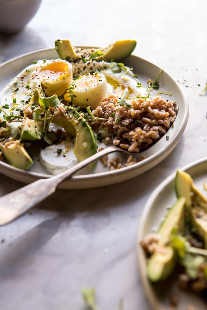 The Best Everything Spice Egg Avocado Yogurt Bowl   halfbakedharvest.com @hbharvest #breakfast #healthy #avocado