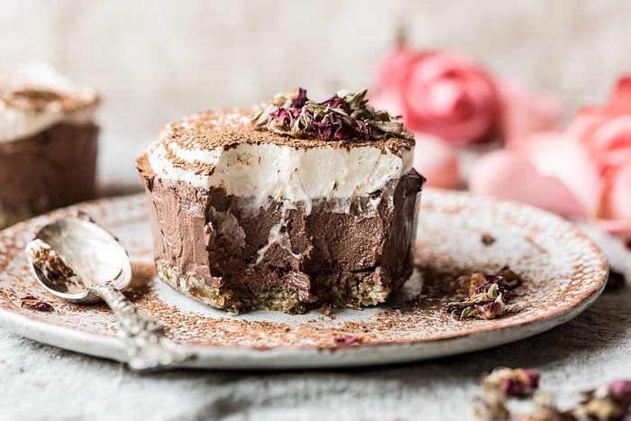 Vegan Chocolate Custard Cake | halfbakedharvest.com #chocolate #dessert #healthy #vegan #nobake